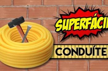 O SEGREDO de instalar CONDUÍTE na parede Super Fácil 09